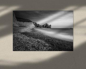 Jurassic Coast England Schwarzweiss von Pitkovskiy Photography|ART