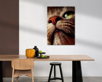 Katze Tiere Kunst #Katze von JBJart Justyna Jaszke