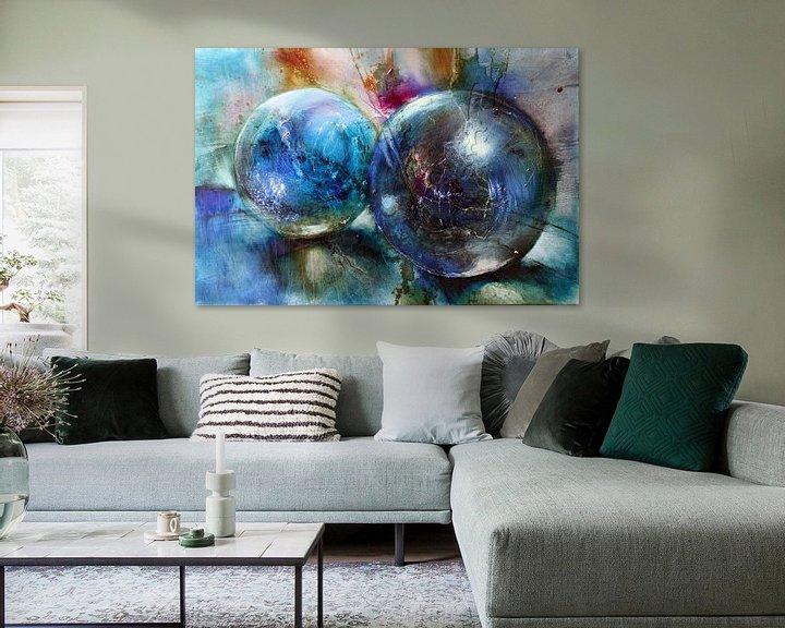 Beispiel: Blaue Murmeln von Annette Schmucker