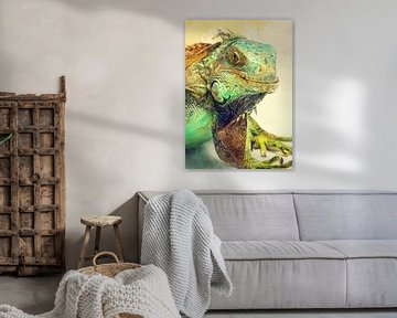 Leguan Tiere Kunst #iguana von JBJart Justyna Jaszke