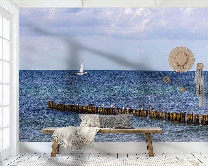Beispiel fototapete: Blick auf den Strand an der Ostsee bei Kühlungsborn von Reiner Conrad