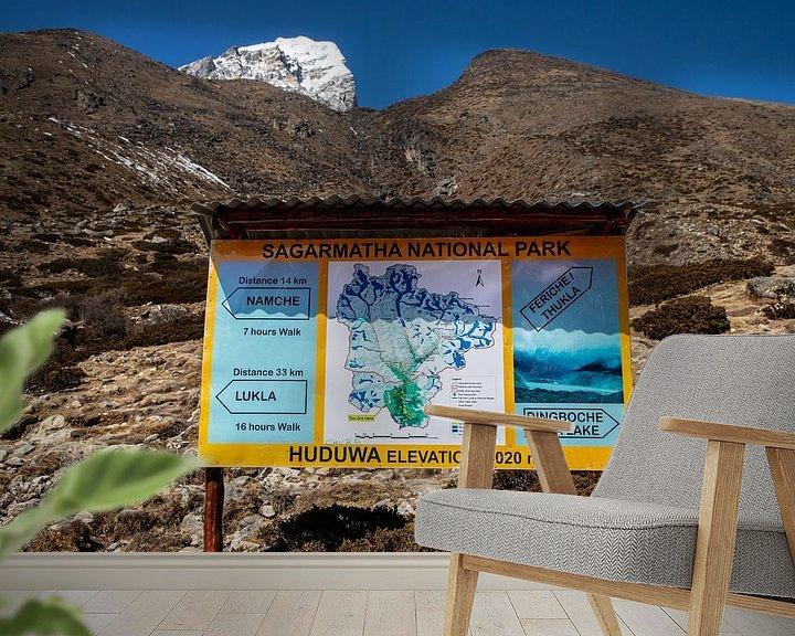 Sfeerimpressie behang: Sagarmatha National Park Nepal van Ton Tolboom