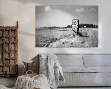 altes Schild entlang des IJsselmeers von Bert-Jan de Wagenaar