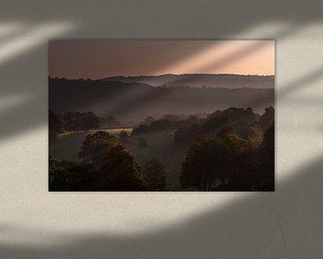 Sonnenuntergang in den Ardennen von Bert-Jan de Wagenaar
