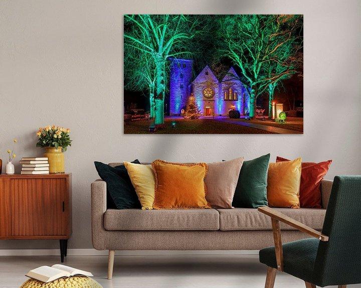Beispiel: Winterleuchten 2020 an der Magtaretenkirche von Frank Heldt
