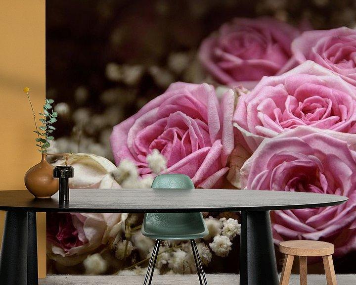 Beispiel fototapete: Rosenstrauss von Claudia Moeckel
