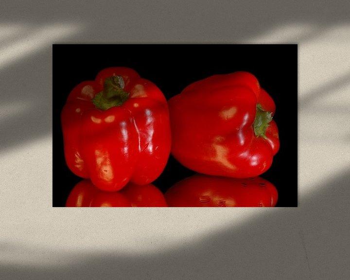 Sfeerimpressie: Rode Paprika,s van Brian Morgan