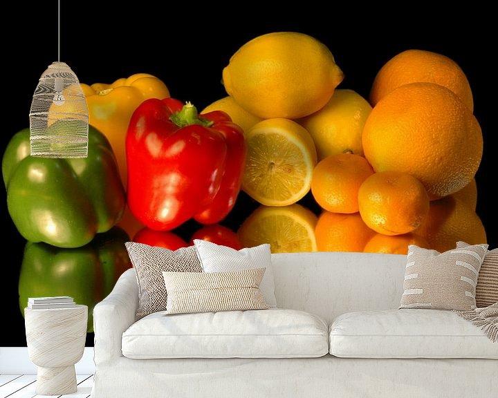 Sfeerimpressie behang: Groente en Fruit van Brian Morgan