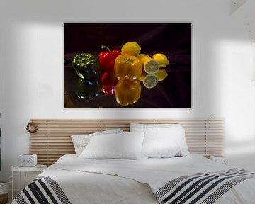 Nature morte des fruits et légumes sur Brian Morgan