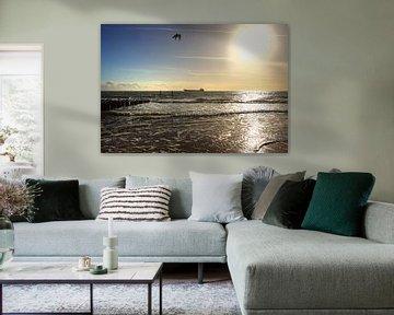 Schip aan de horizon van MSP Canvas
