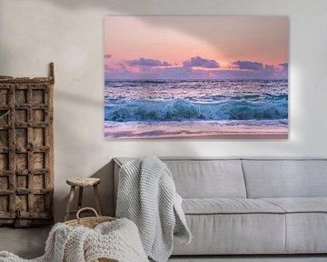 zonsondergang aan de zee van Linda Hanzen