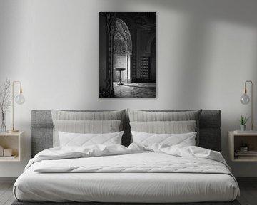 Verlassene Kapelle in schwarz und weiß von Frans Nijland