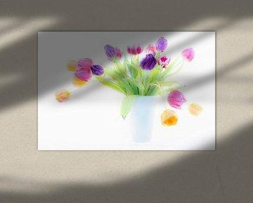 Tulipes dans un vase sur Albert Mendelewski