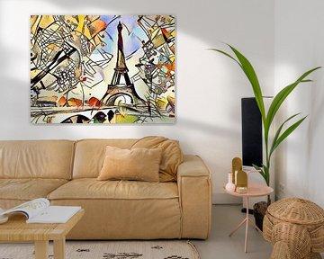 Kandinsky ontmoet Parijs 2 van zam art