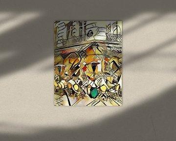 Kandinsky ontmoet Parijs 3 van zam art