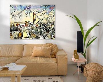 Kandinsky ontmoet Warnemünde 4 van zam art