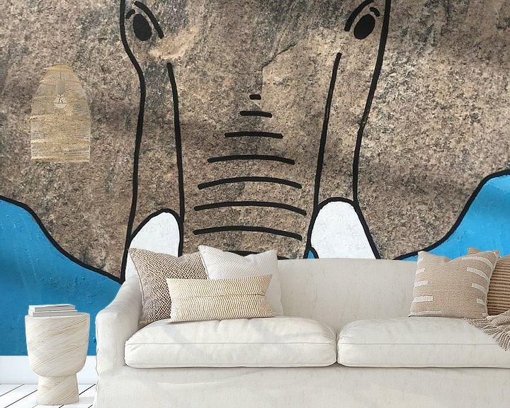 Sfeerimpressie behang: Olifant van hou2use