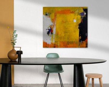 Abstrakt in Gelb-Orange von Claudia Neubauer