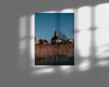 Foto der Kirche in Durgerdam von Roos Maryne - Natuur fotografie