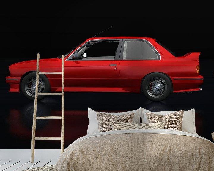 Sfeerimpressie behang: BMW M3 E-30 1991 Zijaanzicht van Jan Keteleer