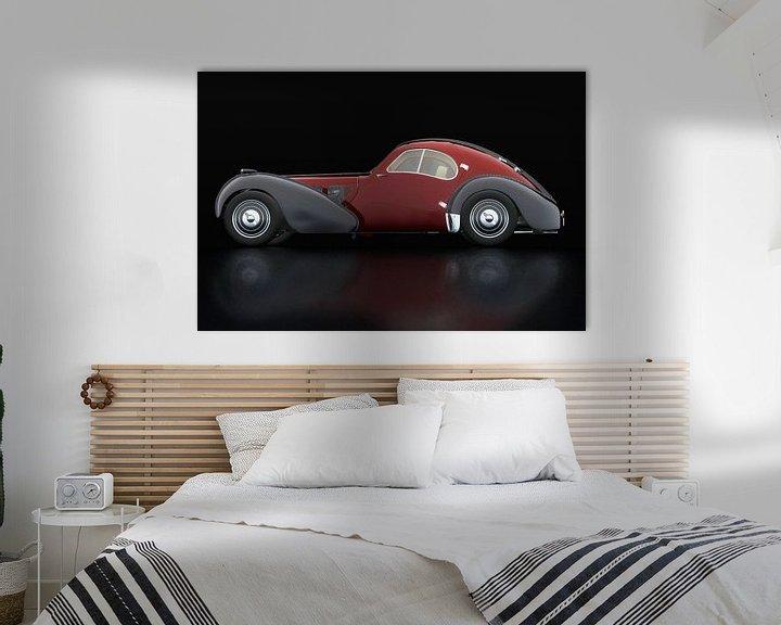 Sfeerimpressie: Bugatti 57-SC Atlantic 1938 Zijaanzicht van Jan Keteleer
