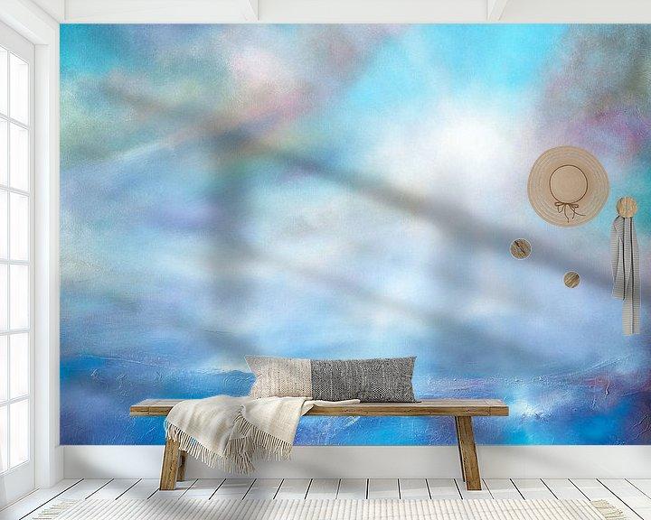 Sfeerimpressie behang: Hemelsblauw van Annette Schmucker