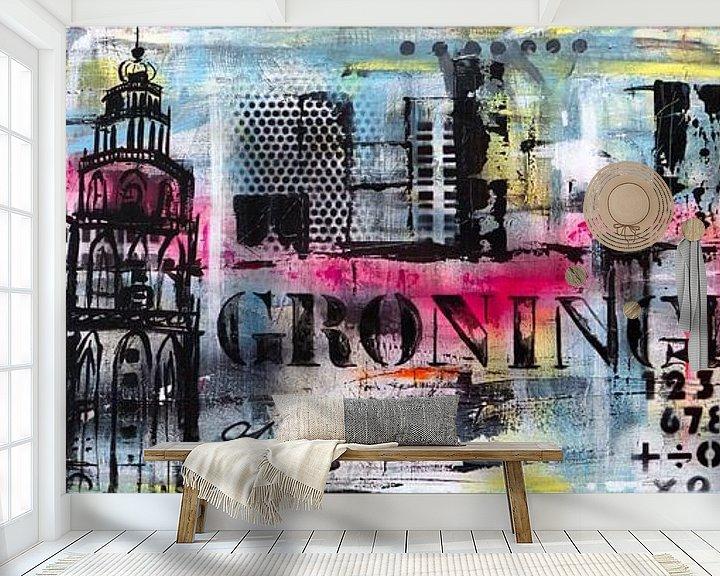 Sfeerimpressie behang: Groningen van Janet Edens