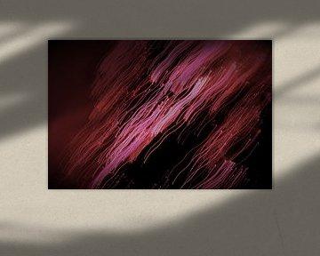 douche van paarse vallende sterren van Inge Heathfield