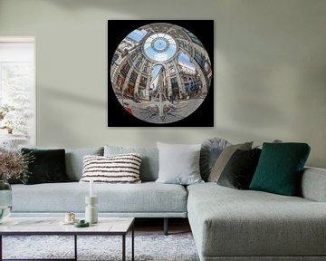 Passage in Den Haag. Fisheye (ronde) foto van Herman van Heuvelen