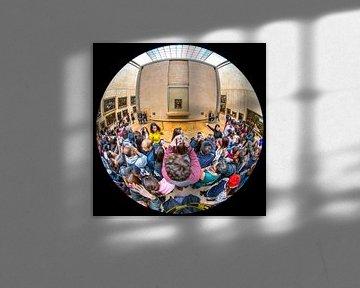 Mona Lisa in Louvre Fisheye foto van Herman van Heuvelen
