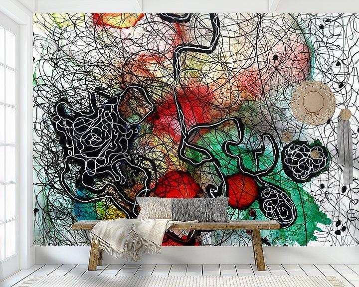 Sfeerimpressie behang: Emotionele landschappen 2 van Katarzyna Strumis
