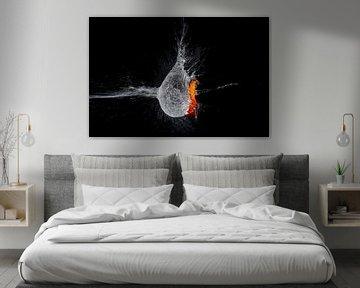 Oranje ballon van Rob Hansum