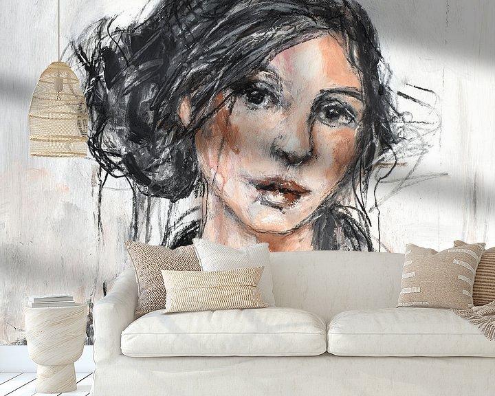 Sfeerimpressie behang: vrouw van Christin Lamade