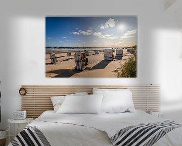 Strand bij Ahlbeck op het eiland Usedom van Werner Dieterich