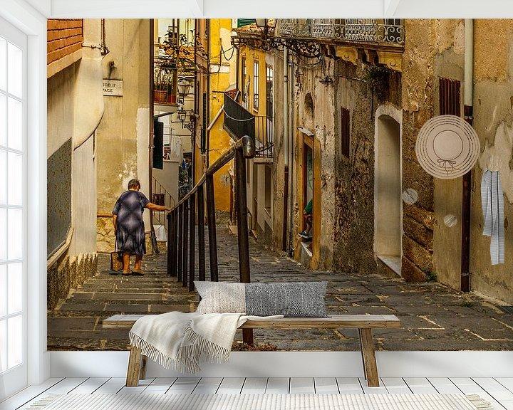 Sfeerimpressie behang: steegjes Italie - 22 van Dick Jeukens