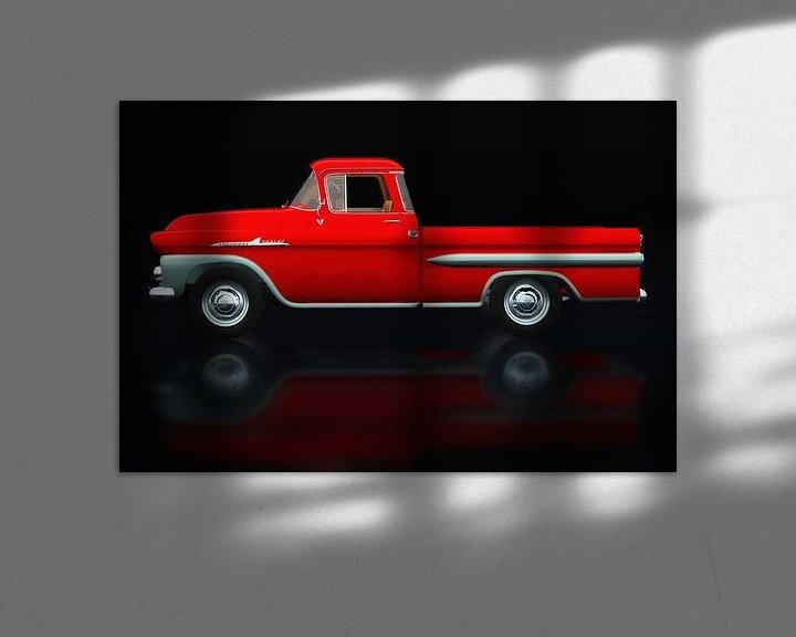 Impression: Chevrolet Apache 1959 Vue latérale sur Jan Keteleer