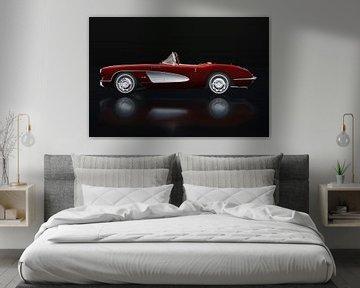 Chevrolet Corvette C1 Zijaanzicht