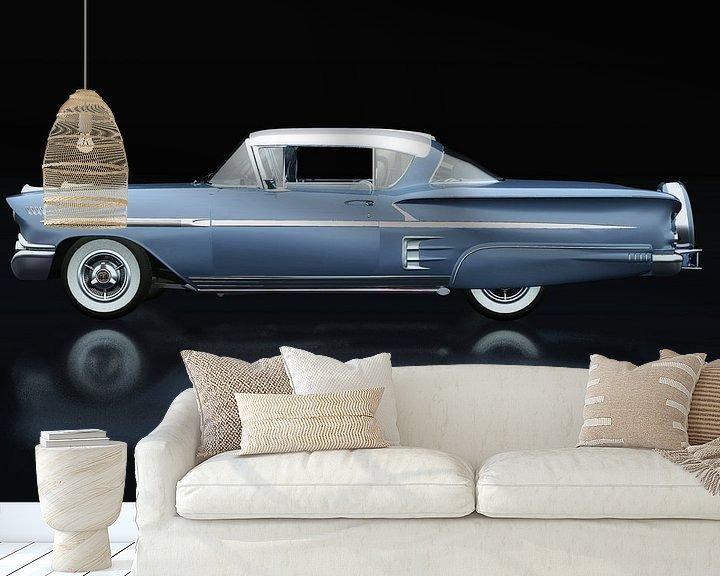 Sfeerimpressie behang: Chevrolet Impala Special Sport 1958 Zijaanzicht van Jan Keteleer