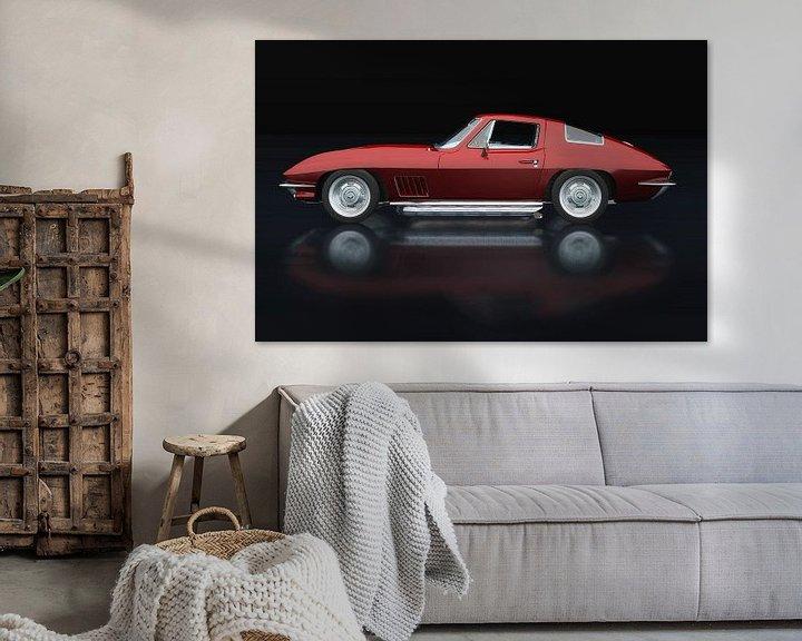 Sfeerimpressie: Chevrolet Corvette Stingray 1967 Zijaanzicht van Jan Keteleer