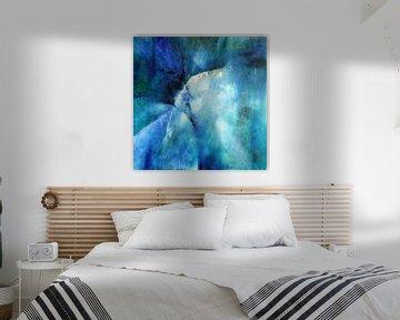 Abstracte samenstelling in blauw