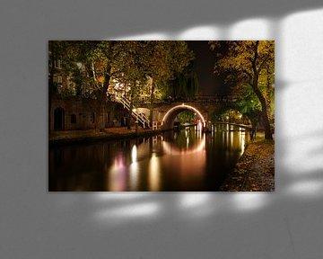 De Jacobibrug over de Oudegracht in Utrecht (2) von Donker Utrecht