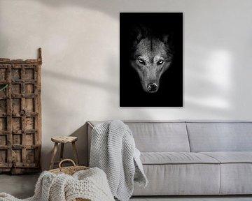 Strenge Schnauze einer Wölfin von Michael Semenov