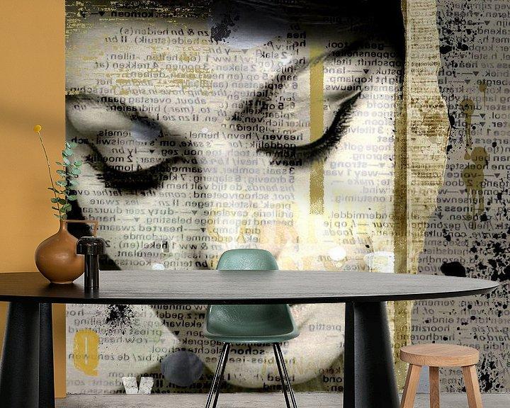 Sfeerimpressie behang: Sophia Loren van Mirjam Duizendstra