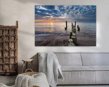 Buhnen an der Küste der Ostsee bei Graal Müritz von Rico Ködder