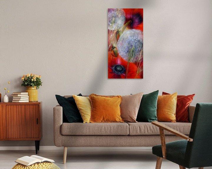 Beispiel: Mohn und Pusteblumen von Annette Schmucker