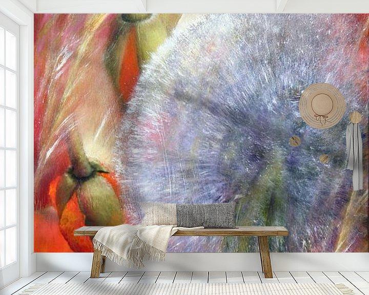 Beispiel fototapete: Mohn und Pusteblumen von Annette Schmucker