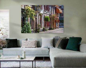 Gemütliche Vintage-Straße in Culemborg in den Niederlanden von Peter de Kievith Fotografie