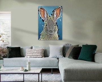 Kaninchen Bunny Kunst #Kaninchen #Häschen #Tiere von JBJart Justyna Jaszke