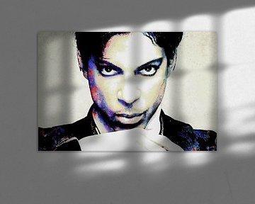 Prinz Abstraktes Porträt in verschiedenen Farben von Art By Dominic