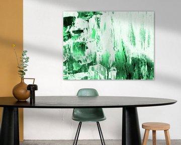 Abstrakt in Grün und Weiß I von Maurice Dawson